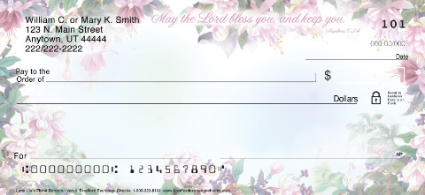 Image of Awesome Floral Border Bible Verse Personal Checks - Lena Liu