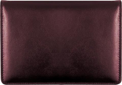 Burgundy Top-Stub Leather Checkbook Cover