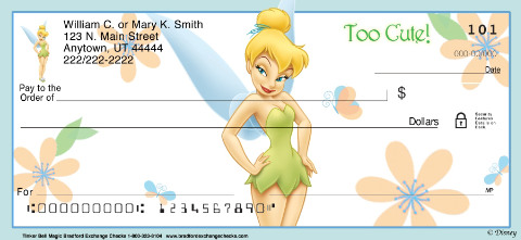 Tinker Bell Magic! Personal Checks