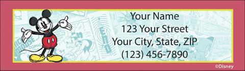 Sketch Book Mickey Return Address Label