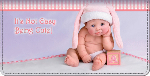 Cute As Can Be Baby Dolls Checkbook Cover
