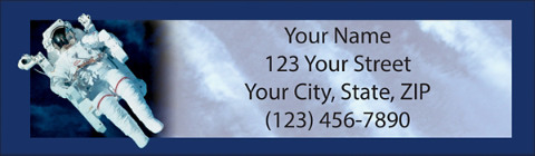 Space Discoveries Return Address Label
