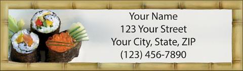 Sushi Bar Return Address Label