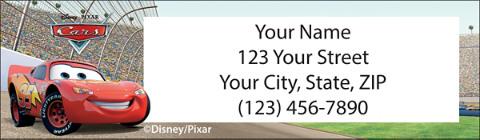 Disney/Pixar Cars Return Address Label