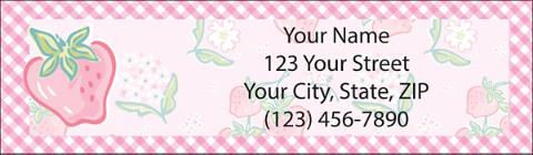 Strawberry Fields Return Address Label