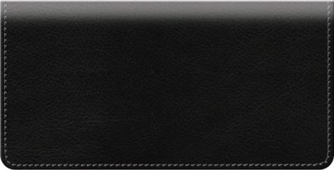 Black Classic Value Checkbook Cover