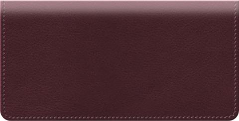 Burgundy Classic Value Checkbook Cover