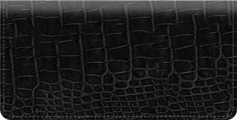 Black Croc Checkbook Cover