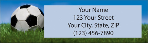Soccer Return Address Label