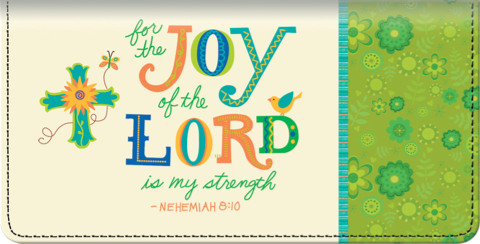 Image of Colorful Words of Faith Checkbook Cover