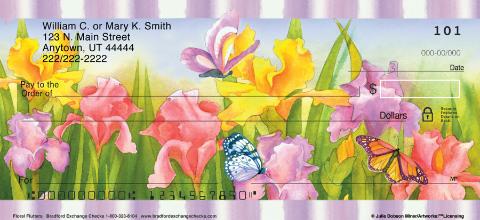 Floral Flutters Personal Checks