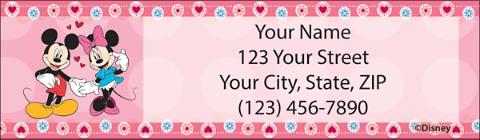 Disney Classic Romance Return Address Label