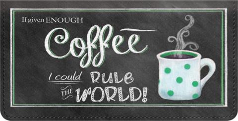 Coffee Talk Checkbook Cover
