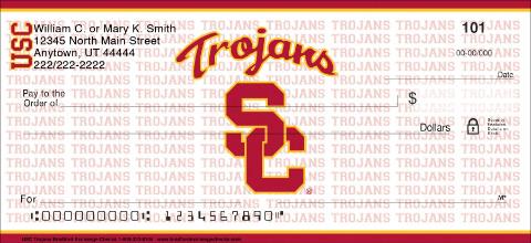 USC Trojans Personal Checks