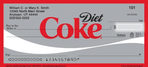 Diet Coke Personal Checks