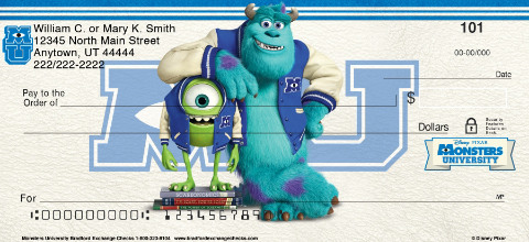 Monsters University Personal Checks