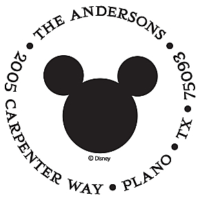 Mickey Icon Personalized Image Stamp