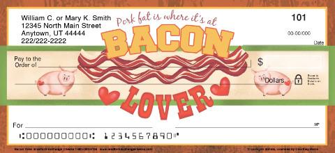 Bacon Lover Personal Checks