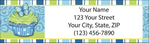 Cupcakes Return Address Label