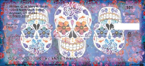 Day Of The Dead Sugar Skulls Personal Checks