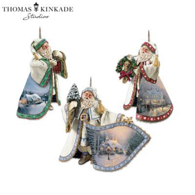 Thomas Kinkade Heirloom Santa Christmas Ornament Collection by