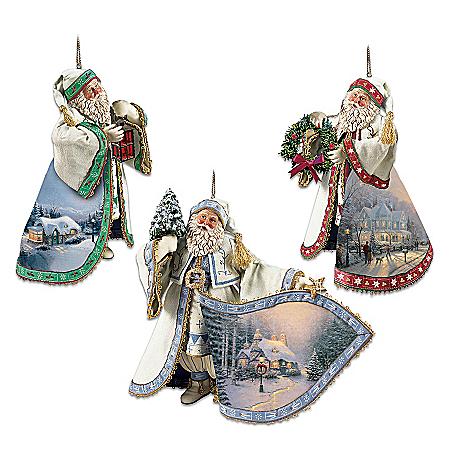Thomas Kinkade Heirloom Santa Christmas Ornament Collection
