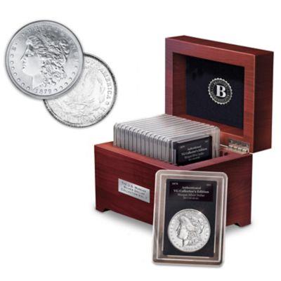 Rare U.S. Morgan Silver Dollar Collection: 1878-1921 by