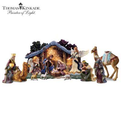 Thomas Kinkade Christmas Nativity Collection Star Of Hope