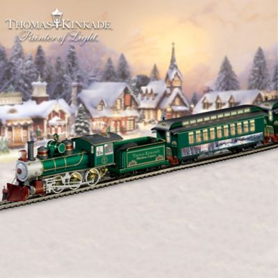 Ho Christmas Train.Thomas Kinkade Christmas Express Train Collection