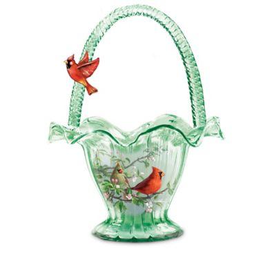 James Hautman Songbird Art Hand-Blown Glass Bowl Collection by