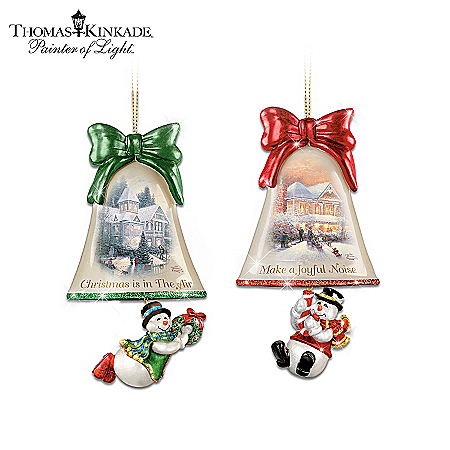 Thomas Kinkade Christmas Ornament Collection: Ringing In The Holidays
