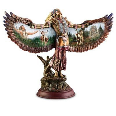 Chuck Ren Cold-Cast Bronze Spirit Dancer Tribute Sculptures by