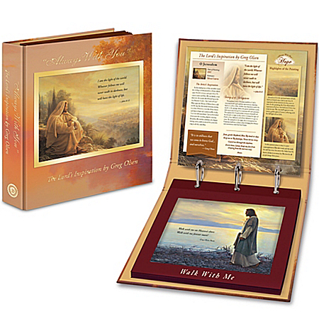 Greg Olsen Always With You Print Collection with Display Portfolio and Frame