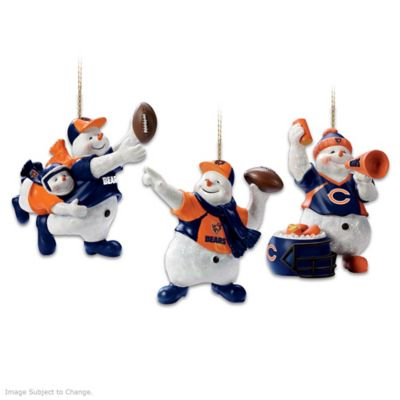 Officially Licensed Chicago Bears Snowman Ornaments by