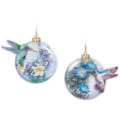 Lena Liu Glass And Sculpted Hummingbird Ornament Collection by