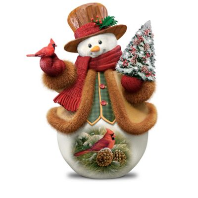 Rosemary Millette Illuminated Snowman Figurine Collection by