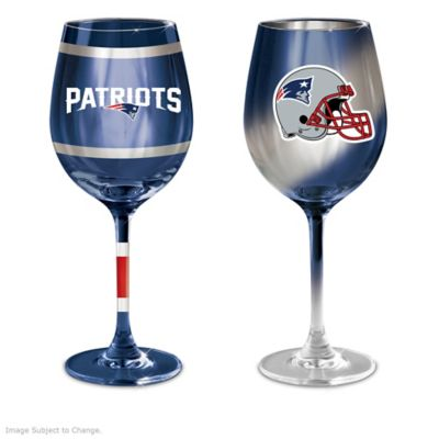 new england patriots 14 ounce wine glass collection