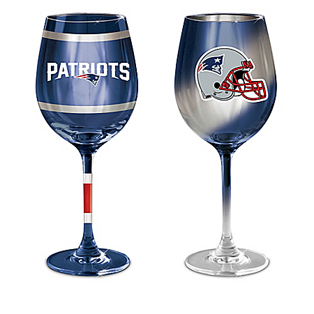 New England Patriots 14-Ounce Wine Glass Collection