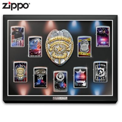 Police Art Zippo® Collection With Lighted Display by