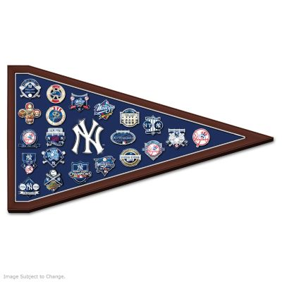 Yankees Tribute Pin Collection With Pennant Display by