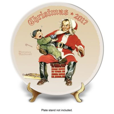 Rockwell Christmas Annual Porcelain Plate Collection by