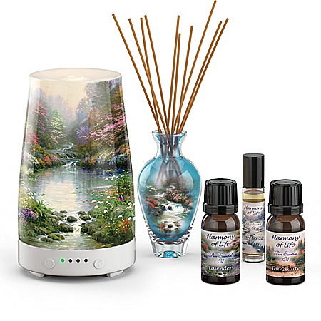Thomas Kinkade Art Diffuser and Essential Oil Collection with Fact Cards