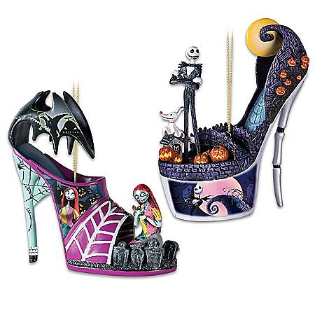 Disney Tim Burton's The Nightmare Before Christmas Shoe Ornament Collection