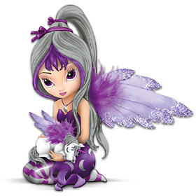 """Enchanted Companions"" Fairy And Unicorn Figurine Collection"
