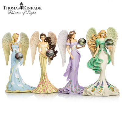 Thomas Kinkade Angel Figurines With