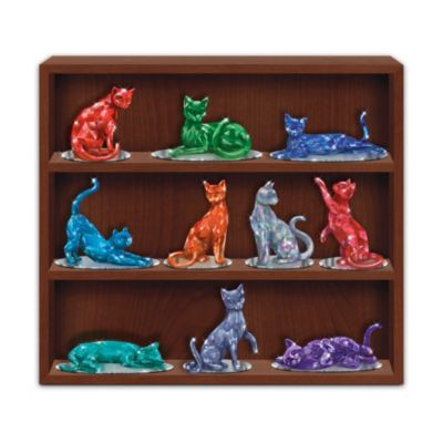 Crystalline Cat Figurines Inspired By Rare Healing Gems by