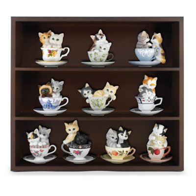 Purr-fectly Tealightful Kitten Teacup Figurine Collection by