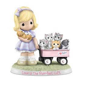 """Precious Moments """"Purr-ecious Moments Together"""" Figurines"""