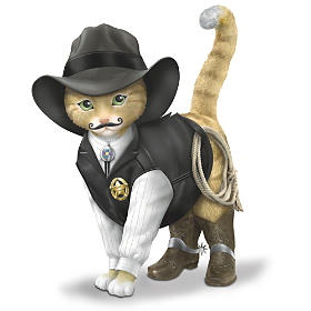 """Spurs 'N Fur Kitty Cowboys"" Cat Figurine Collection"