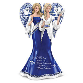 """""""Blue Willow Sisterly Love"""" Angel Figurine Collection"""
